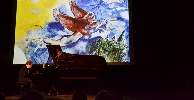 Concert de Mickaïl Rudy. « Chagall, la couleur des sons ». Le Doyenné, Brioude. 2018